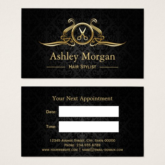 Hair Stylist Gold Scissors Hair Salon Appointment Business