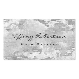 Hair Stylist Grey Wall Brick Design Modern Chic Pack Of Standard Business Cards