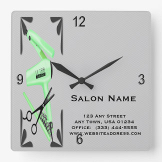 Hair Stylist Hair Dryer Curling Iron Scissors Clocks