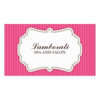 Hair Stylist Hairdresser Salon Pink Elegant Retro Business Cards