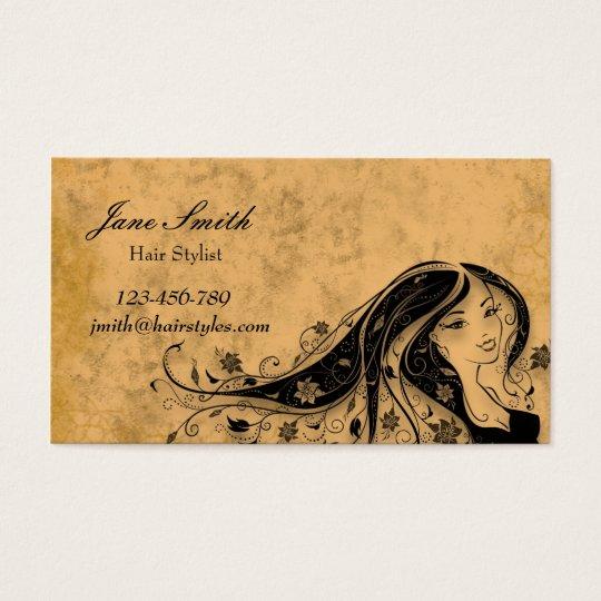 Hair stylist hairdresser vintage stylish business card