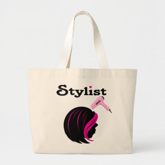 Hair Stylist Large Tote Bag