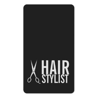 Hair Stylist - Light Gray Scissors Pack Of Standard Business Cards