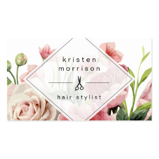 Hair Stylist Modern Elegant Floral Appointment Pack Of Standard Business Cards