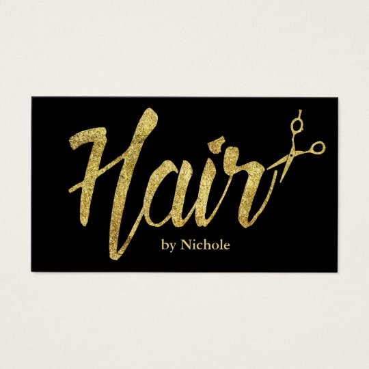 Hair Stylist Modern Gold Script Salon Appointment Business