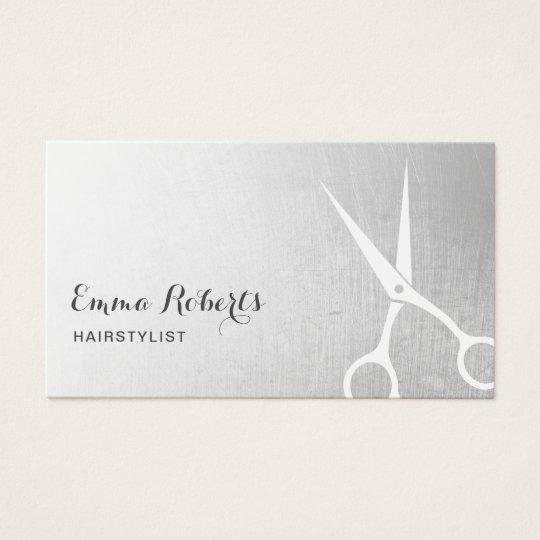 Hair Stylist Modern Scissor Hair Salon Silver Business