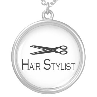 Hair Stylist Round Pendant Necklace