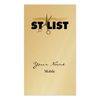 Hair Stylist Pack Of Standard Business Cards
