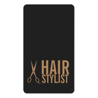 Hair Stylist - Pale Gold Scissors Pack Of Standard Business Cards