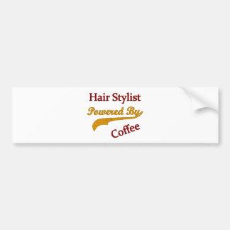 Hair Stylist Powered By Coffee Car Bumper Sticker