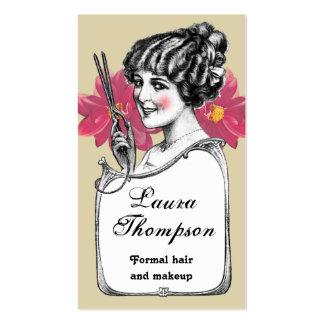 Hair Stylist Retro Vintage Flower Business Card