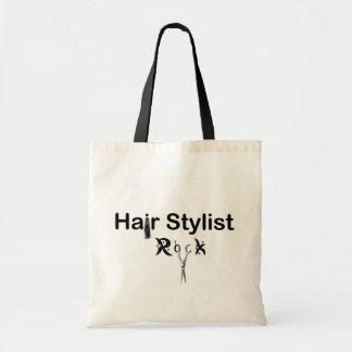 hair stylist rock budget tote bag