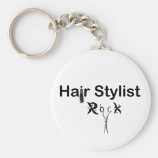 HAIR STYLIST ROCK key chain