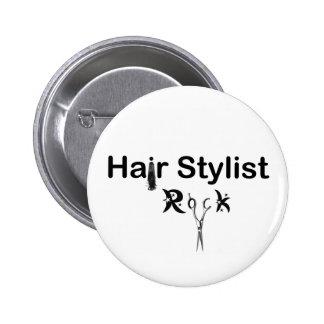 HAIR STYLIST ROCK pin