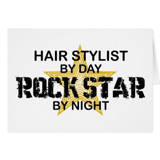 Hair Stylist Rock Star by Night Cards