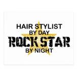 Hair Stylist Rock Star by Night Post Card