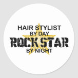 Hair Stylist Rock Star by Night Sticker