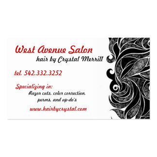 Hair Stylist Salon Beauty Business card