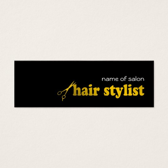 Hair Stylist/Salon Business Card Template - gold