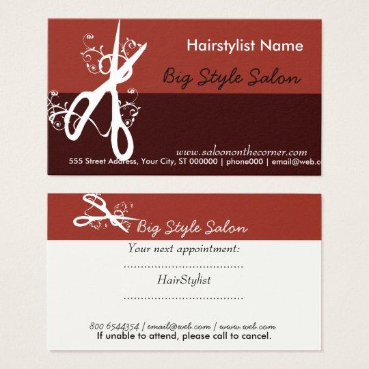 Hair Stylist Salon COOL  Spa Black Business Card