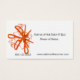 Hair Stylist Salon Spa Blossom Swirl Scissors Business Card