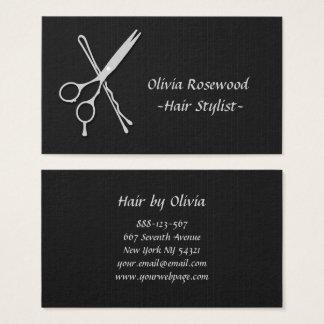 Hair Stylist Scissors Bobby Pin Hair Dresser Business Card