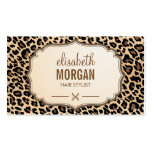 Hair Stylist Scissors Elegant Cream Leopard Print Pack Of Standard Business Cards