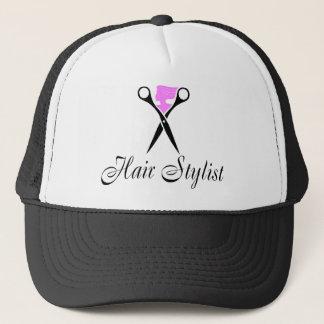 Hair Stylist (Scissors/Pink) Trucker Hat