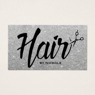 Hair Stylist Script Silver Glitter Appointment