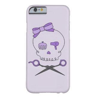 Hair Stylist Skull & Scissor Crossbones - Purple 2 Barely There iPhone 6 Case