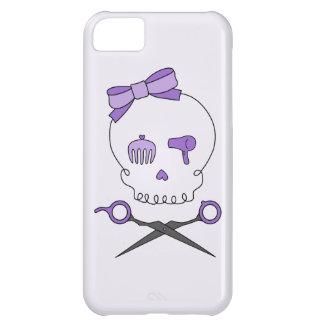 Hair Stylist Skull & Scissor Crossbones - Purple 2 iPhone 5C Cases