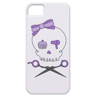Hair Stylist Skull & Scissor Crossbones - Purple 2 iPhone 5 Cover