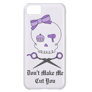 Hair Stylist Skull & Scissor Crossbones - Purple 2 Case For iPhone 5C