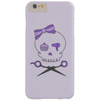 Hair Stylist Skull & Scissor Crossbones - Purple 2 Barely There iPhone 6 Plus Case
