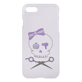 Hair Stylist Skull & Scissor Crossbones - Purple 2 iPhone 7 Case