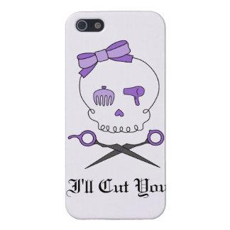 Hair Stylist Skull Scissor Crossbones - Purple 2 iPhone 5 Case