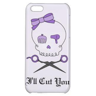 Hair Stylist Skull Scissor Crossbones - Purple 2 iPhone 5C Cover