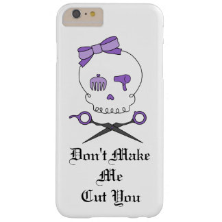 Hair Stylist Skull & Scissor Crossbones - Purple 3 Barely There iPhone 6 Plus Case