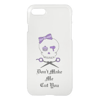 Hair Stylist Skull & Scissor Crossbones - Purple 3 iPhone 7 Case