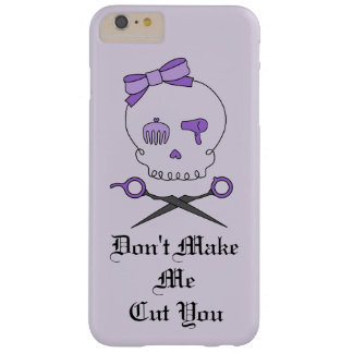 Hair Stylist Skull & Scissor Crossbones - Purple 4 Barely There iPhone 6 Plus Case