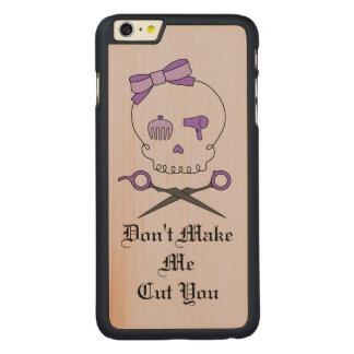 Hair Stylist Skull & Scissor Crossbones - Purple 4 iPhone 6 Plus Case