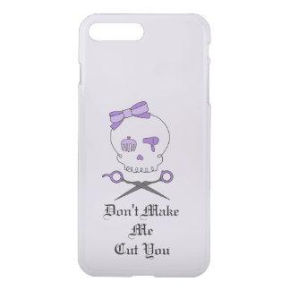 Hair Stylist Skull & Scissor Crossbones - Purple 4 iPhone 7 Plus Case