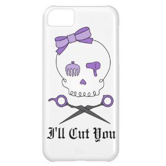 Hair Stylist Skull & Scissor Crossbones - Purple iPhone 5C Covers