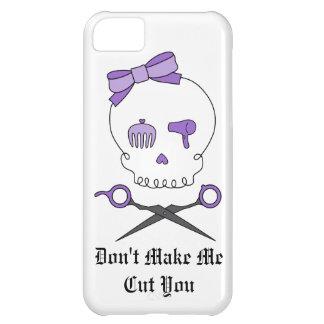 Hair Stylist Skull & Scissor Crossbones - Purple Case For iPhone 5C