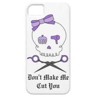 Hair Stylist Skull & Scissor Crossbones - Purple iPhone 5 Case