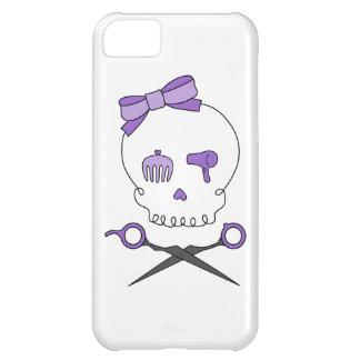 Hair Stylist Skull & Scissor Crossbones - Purple Cover For iPhone 5C