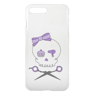Hair Stylist Skull & Scissor Crossbones - Purple iPhone 7 Plus Case