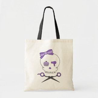 Hair Stylist Skull & Scissor Crossbones - Purple Tote Bag