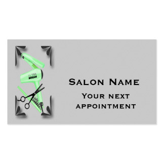 Hair Stylist Tools Appointment Card Template Pack Of Standard Business Cards