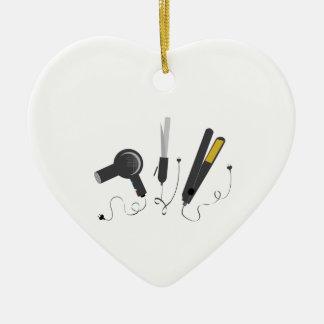 Hair Stylist Tools Ceramic Heart Decoration